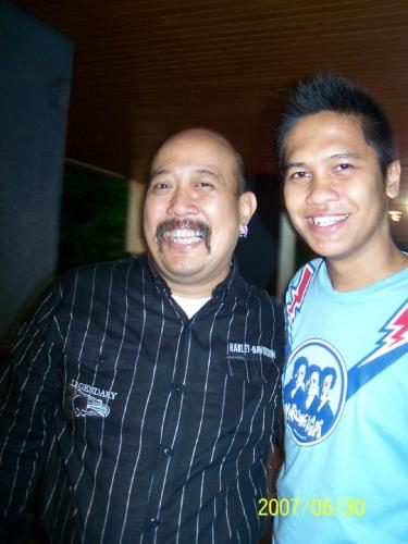 Indro Warkop with Adit